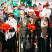 Unidentified Veterans During The Celebration Of Victory Day In B — Stock Photo
