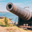 Historic cannon at Suomenlinna, Sveaborg maritime fortress In He — Stock Photo #71384085