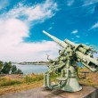 Historic cannon at Suomenlinna, Sveaborg maritime fortress In He — Stock Photo #71384825