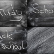 School Chalkboard Background With Message Education — Stock Photo #71394437