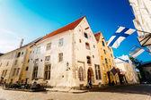 通りや古い一部都市建築エストニア首都タリン — ストック写真