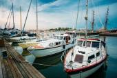 Embankment In Helsinki At Summer Evening, Finland. Town Quay — Stock Photo