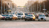 Busy Independence Avenue During Evening Time. Traffic Slow Movin — Stock Photo