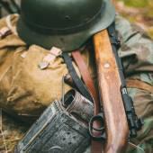 German military ammunition of World War II on ground. — Stock Photo