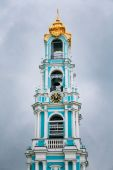 Five-tiered Lavra Bell Tower, built in the years 1741-1770 in Tr — Stock Photo