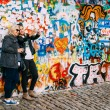 Постер, плакат: Famous place in Prague The John Lennon Wall Czech Republic
