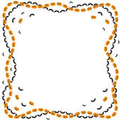 Halloween greeting frame — Stock Vector