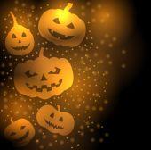 Pumpkins greeting background — Stock Vector