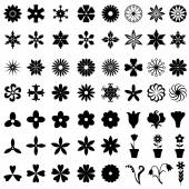 64 flowers icons set — Stock Vector