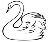 Swan  silhouette  — Stok Vektör