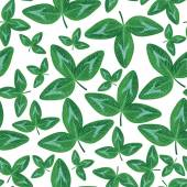 Clovers green leaves seamless pattern — Stock Vector
