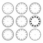 Set of dials with different graduations — Stock vektor