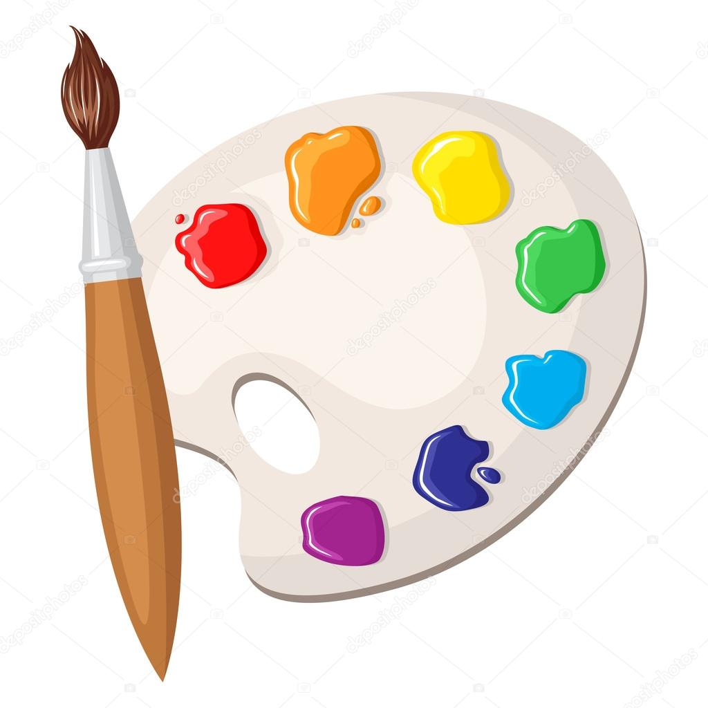 u753b u7b14 u548c u989c u6599 u7684 u8c03 u8272 u677f  u56fe u5e93 u77e2 u91cf u56fe u50cf u00a9 agrino 80615622 clip art paint brush circle clipart paint brush and easel