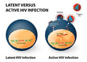 Latent and active HIV infection — Vettoriale Stock