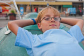 Boy with glasses — Stock Photo