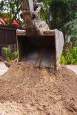 Piccolo escavatore — Foto Stock