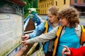 Women and map — Stock Photo