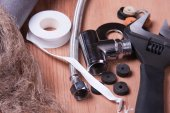 Plumbing tools — Stock Photo