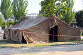 Large military tent — Stock Photo