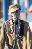Russian uniform of defense for chemical attacks in wwii — Stock Photo