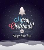 Christmas vintage greeting card. — Stock Vector