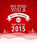 Merry Christmas vintage greeting card. — Wektor stockowy