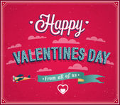 Valentines day greeting card. — Stock Vector