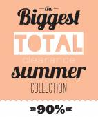 Collection of biggest sale posters. — Stock vektor