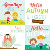 Goodbye summer. Hello autumn. — Stock Vector