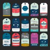 Hipsters unique sale tags. — Stock Vector