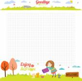 Design elements for school   notebook or  diary — Stock Vector