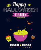 Bright trick or treat card — Stock Vector