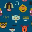 Bright trick or treat seamless pattern — Wektor stockowy