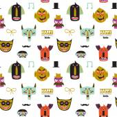 Bright trick or treat seamless pattern — Stock Vector