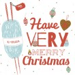 Christmas greeting card design — Stock Vector #54471627