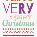 Christmas greeting card design — Stock Vector #54471737