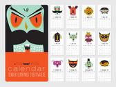 Unusual calendar for 2015 — Stock Vector