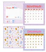 Calendar for 2015 with  recipe. — Vetorial Stock