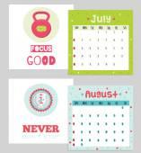 2015 calendar about sport — Stock Vector