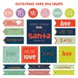Christmas and New Year greeting stickers — Stock Vector #57288965