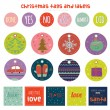 Christmas and New Year greeting stickers — Stock Vector #57289023