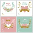 Christmas greeting cards — Stock Vector #57808161
