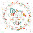 Christmas and New Year greeting card — Stock Vector #58057063