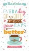 Vintage greeting coffee illustration card — Stock Vector
