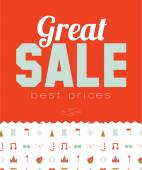 Collection of biggest sale posters — Stock Vector