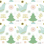 Christmas and New Year greeting pattern — Stok Vektör