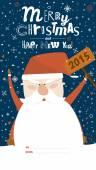 快乐的圣诞节和新年卡 — 图库矢量图片