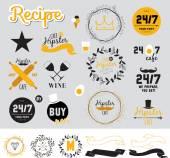 Conception de menus de restaurant et café — Vecteur