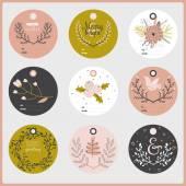 Seasonal  stickers — Stock Vector