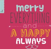 Merry everything poster — Stock Vector